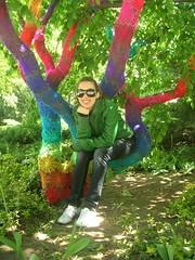 Crochet Tree (babukatorium) Tags: pink blue red orange streetart color tree green art net lana wool yellow circle rainbow colorful purple handmade lace turquoise teal burgundy oneofakind pastel web crochet spiderweb violet shades shade gradient hexagon hippie psychedelic arcobaleno tulle embellished doily multicolor fa whimsical renew haken hkeln croch ganchillo fuxia upcycled uncinetto handdecorated fattoamano  tii horgolt yarnbombing decoratoamano babukatorium