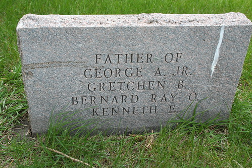 Reverse side of the tombstone of George A. Ross