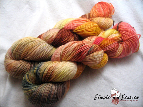 Handdyed Superwash Merino Yarn - Golden Earth