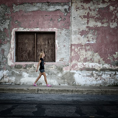across the street (urchino) Tags: pink girl cuba cienfuegos lumixgf1 20mmpancake