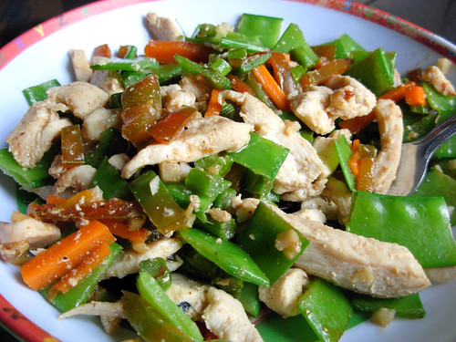 Garlic Ginger Chicken Stir Fry