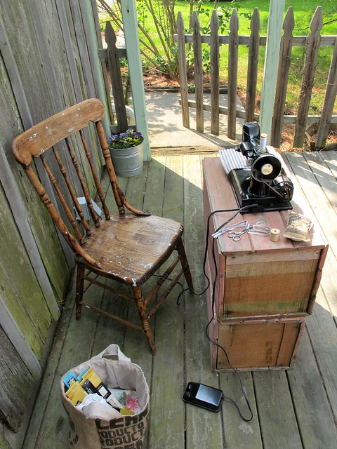 outdoor sewing