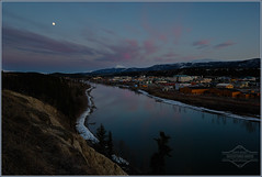 While They Slept... (kdee64) Tags: clouds reflections spring may fullmoon whitehorse yukonriver goldenhorn lateevening longlakeroad