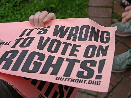 wrong to vote on rights