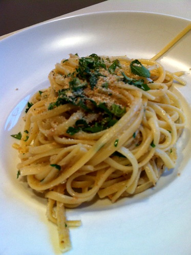 Linguini with Anchovies and Breadcrumbs