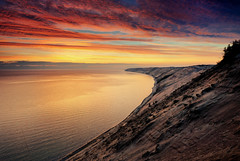 """Superior Dawn"" - Grand Sable Dunes , Pictured Rocks National Lakeshore (Michigan Nut) Tags: usa reflection beach nature clouds sunrise geotagged dawn photos wideangle coastline lakesuperior sanddunes picturedrocksnationallakeshore algercounty grandsabledunes grandmaraismichigan michigannutphotography nikon1635mmf4gedafsvrwideanglezoomlens"
