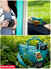 Lomo Forever! (Brandon Christopher Warren) Tags: lighting beautiful bag holga lomo lomography bright teal assignment may cyan diana cameras product dianaf rcc asheboro 2011 johnrash 135bc brandonwarren eos5dmarkii fcolorful productlenses