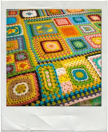 granny square sampler afghan