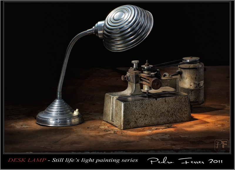 Desk lamp - Still life`s light painting series