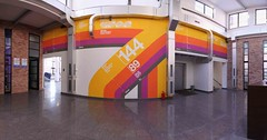 Main hall (Official Classic) Tags: panorama color wall studio office hungary view pano budapest decoration 360 retro numbers helvetica postproduction branding gyr officialclassic