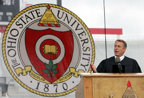 Boehner at OSU commencement
