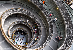 Spiral Walkway at the Vatican Museum (oomphoto) Tags: vatican rome vaticanmuseum explored spiralwalkway