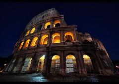 in Rome (_Paula AnDDrade) Tags: trip italy rome roma europa europe italia noturna coliseu carlzeiss 14mm gf1