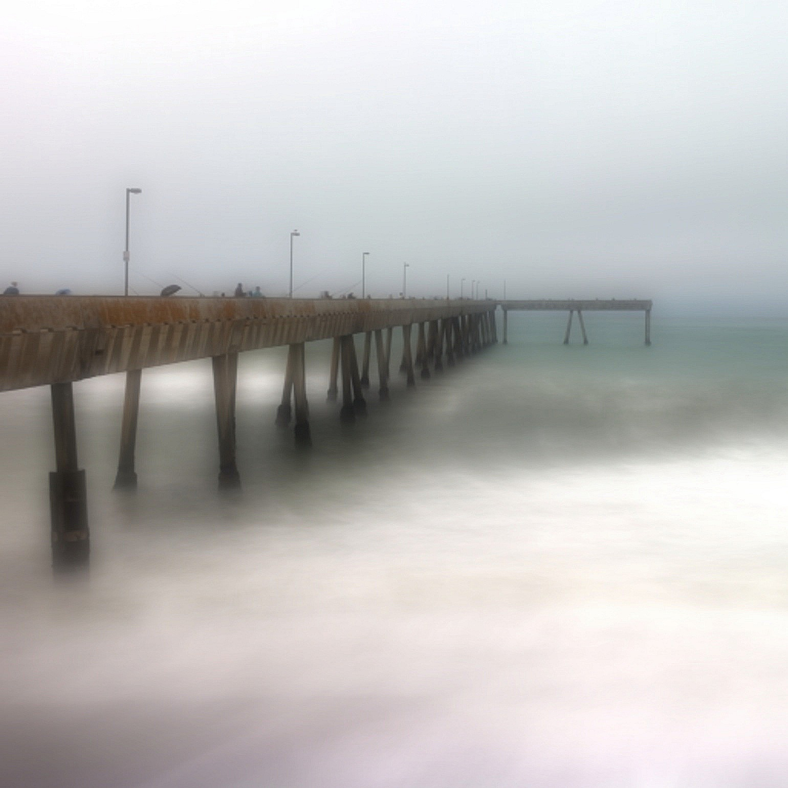 the dreamy, foggy pier