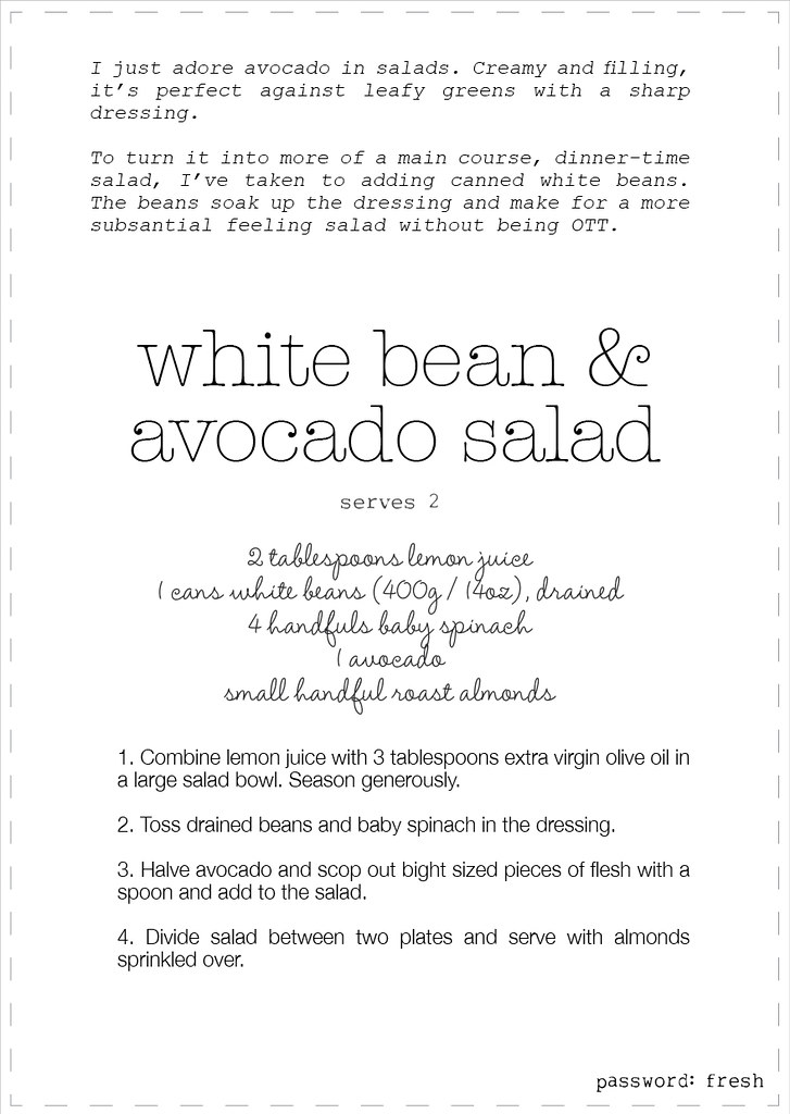 white bean & avocado salad recipe2