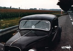 Route National Nordfrankreich Pech gehabt (Traction-Avant Frick) Tags: traction 11cv panne pech routenational elementsorganizer