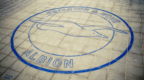 Logo outside the Amex Community Stadium, Brighton