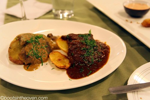 Two types of picante de lengua.  With potatoes!