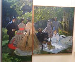 2009 Muse D'Orsay: Le djeuner sur l'herbe by Monet (dominotic) Tags: paris france art history museum painting gallery claudemonet musedorsay ledjeunersurlherbe luncheononthegrass