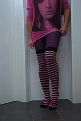 Pink series (feety64) Tags: pink feet socks crossdress leggings