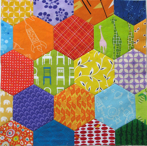 Paper Pieced Hexagons