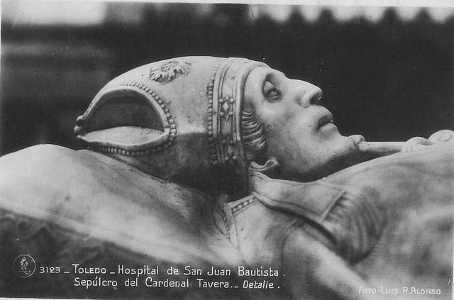 Sepulcro del Cardenal Tavera a principios del siglo XX. Foto Alonso