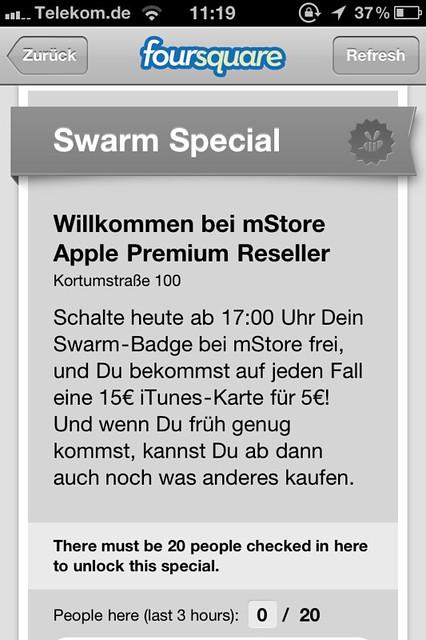 Swarm Special im mStore: iTunes-Guthaben 1/2