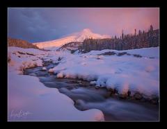 Luminance (Ryan Dyar) Tags: winter snow sunrise whiteriver mthood mounthood alpenglow ryandyar