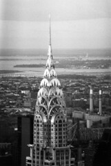 Chrysler Building from Empire State Building With Queens In The Background; Black & White Film Photograph (hogophotoNY) Tags: from newyorkcity blackandwhite bw white black building film with state background spire queens photograph empire nyskyline empirestatebuilding artdeco chrysler filmcamera chryslerbuilding nycskyline the in queensny newyorkcityskyline queensnewyork viewfromempirestatebuilding filmphotograph chryslerbuildingspire artdecochryslerbuilding