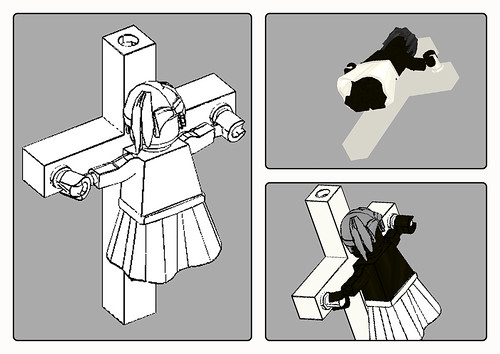 Custom minifig Crucifixion ???