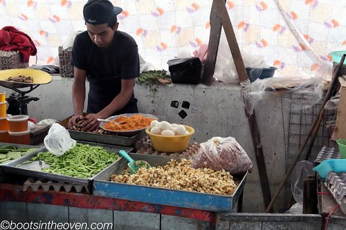 Selling hominy, nopales, cacahuates...