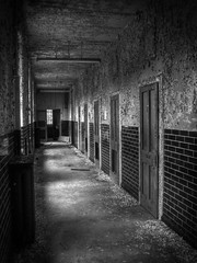 corridor (sj9966) Tags: door wood old urban abandoned hospital dark peeling paint decay corridor forgotten rotten lunatic asylum cells derelict epsom hdr decayed decaying mental urbex