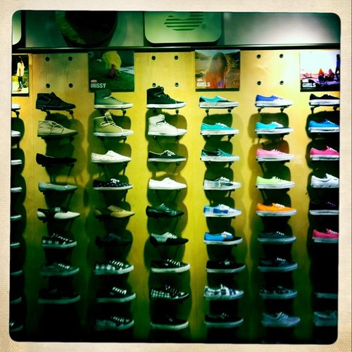 Shopping at vans