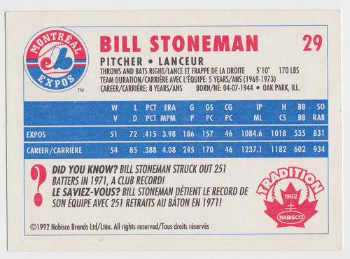 Exp - Bill Stoneman - Back