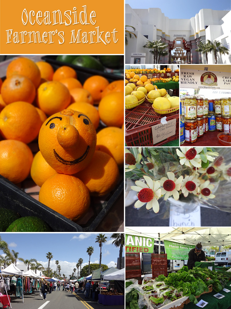 Oceaside Farmers Market Collage