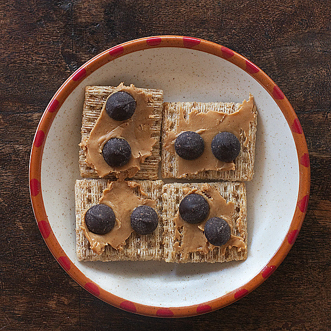 Super Simple Chocolate, Peanut Butter snack. Food photography and Recipe by Jackie Alpers