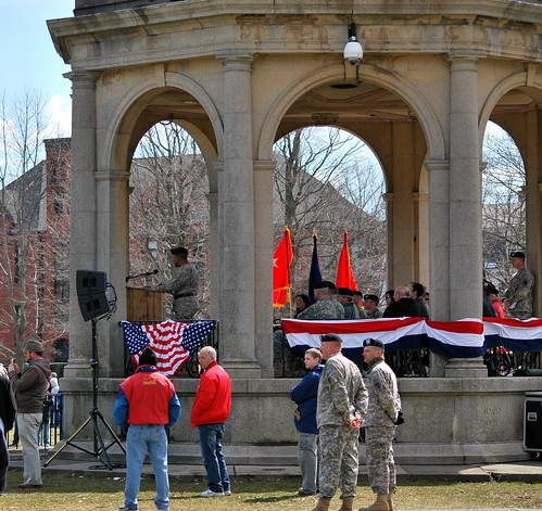 Distinguished Guests on the Salem Common Gazebo