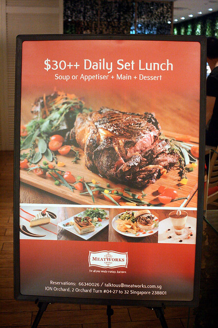 Three course set lunch for only S$30++