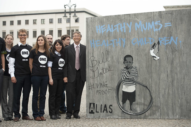 Bill Gates and ONE members in Berlin