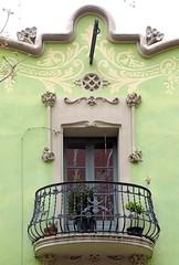 Barcelona - Gran de Sant Andreu 033 c (Arnim Schulz) Tags: barcelona espaa art window architecture liberty ventana spain arquitectura arte fenster kunst catalonia finestra artnouveau gaud architektur catalunya espagne fentre modernismo catalua spanien modernisme jugendstil espanya katalonien stilefloreale belleepoque baukunst