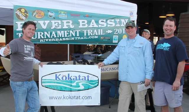 Caja Ormand and Eric Boyd take the team title in the river bassin tournament trail stop #1!