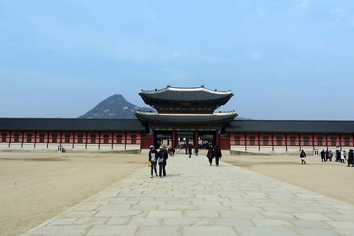 Entering Gyeongbokgung