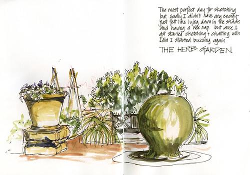110409 Sketchabout 5_03 Herb Garden