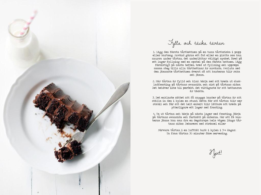 täcka tårta choklad