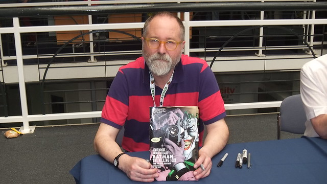 Brian Bolland Signing my copy of Batman The Killing Joke