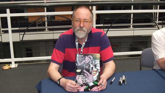 Brian Bolland Signing my copy of Batman The Killing Joke