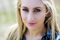(Emily Ann Hall) Tags: blue shirt canon rebel hall emily eyes ashley 85mm blonde ann f18 plaid feldman t1i