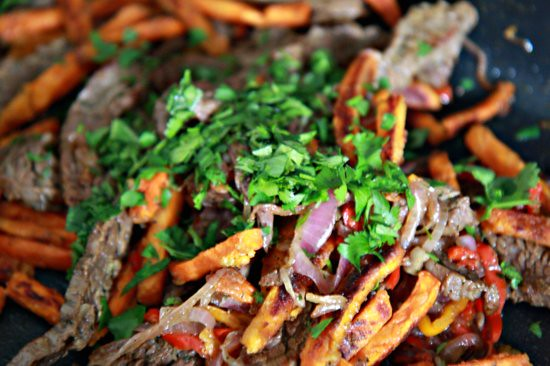 Skirt Steak and Sweet Potato Fry Hash