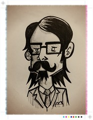 My new pass photo ([rich]) Tags: pencil sketch doodle scribble sketchpad