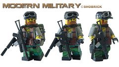 Modern Military Rabbit (Shobrick) Tags: brick dan lego military si special tiny vest custom 18 tatoo citizen forces pwd glock pmc tactical silencer brickarms shobrick